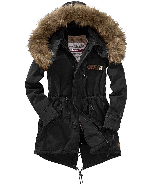 ausgewähltes Material suche nach dem besten modische Muster Mode-Trends für den Winter: KHUJO Parka Winterjacke mit ...