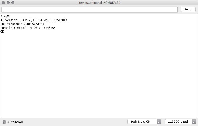 Syonyk's Project Blog: Installing the latest AT firmware on