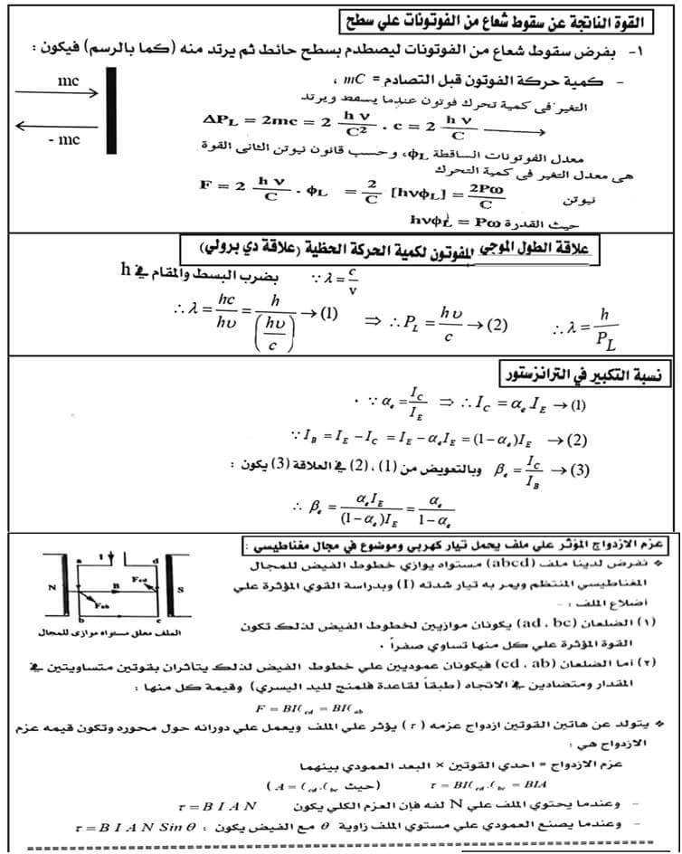 مسائل فيزياء مجابة .. مهمة جدا لطلاب ثانوية عامة 4