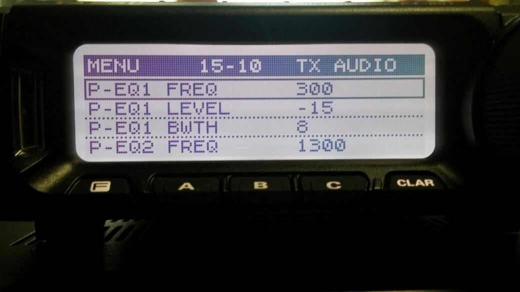 yaesu ft-891 mic settings