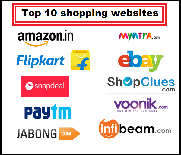 Top 10 shopping websites in india top zenith for Online shopping websites list