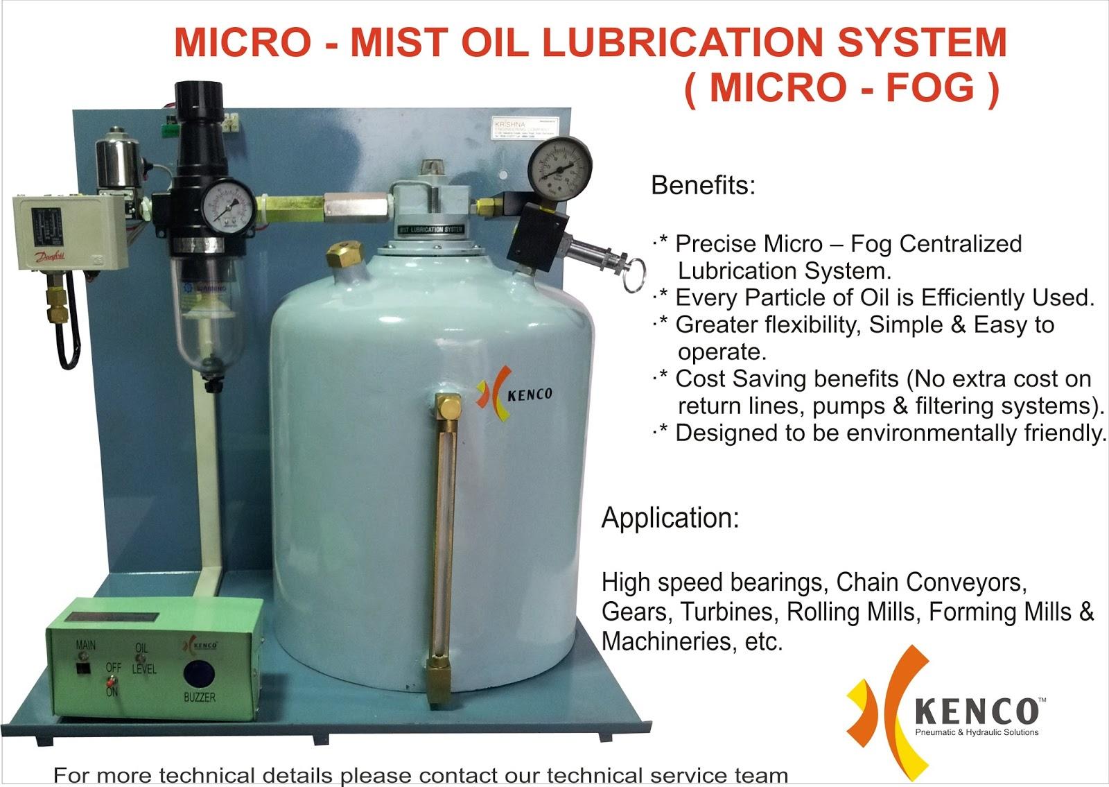 Micro Mist Oil Lubrication System Micro Fog