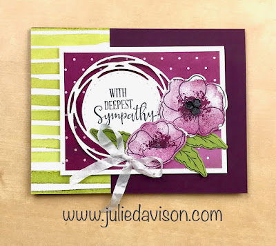 Stampin' Up! Painted Poppies + Peaceful Moments Sympathy Card ~ Peaceful Poppies Suite ~ 2020 Spring Mini Catalog ~ www.juliedavison.cp,
