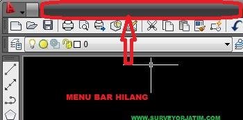 Cara memunculkan menu bar autocad land desktop 2009 yang hilang ...