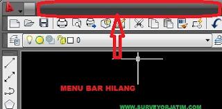 Cara memunculkan menu bar autocad land desktop 2009 yang hilang
