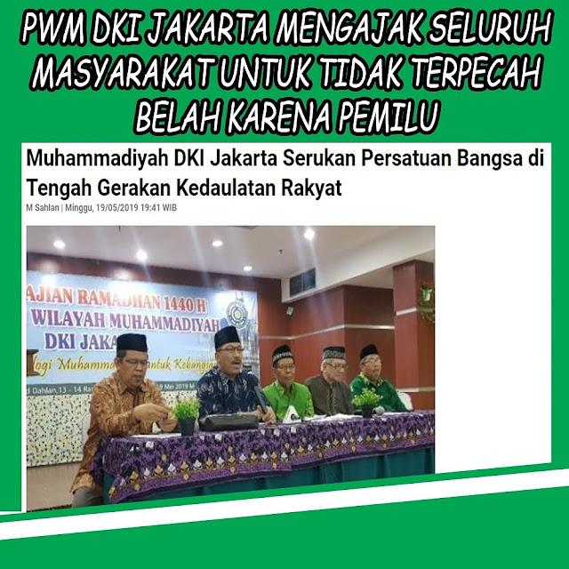 Muhammadiyah DKI Jakarta Serukan Persatuan Bangsa di Tengah Gerakan Kedaulatan Rakyat