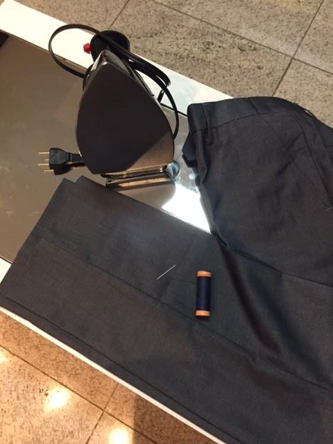 Como fazer barra de calça de terno à mão
