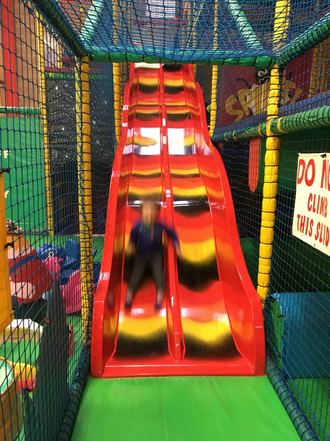 ants-inya-pants-soft-play-cardiff-boy-half-way-down-slide-but-image-of-him-very-blurred
