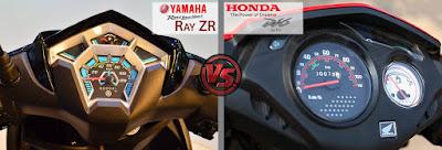 Yamaha Cygnus Ray ZR VS Honda Dio Instrument console