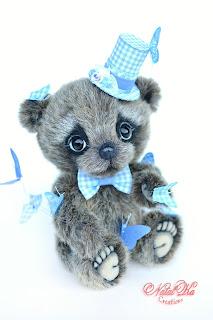 Artist teddy bear, handmade bear, ooak bear, NatalKa Creations, teddies with charm, teddy bears, Künstlerteddy, Künstlerbär, Teddybär, Unikat