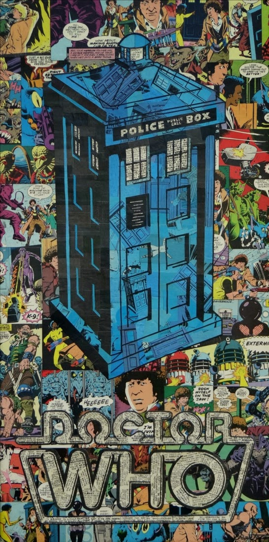 03-Dr-Who-Tardis-Mike-Alcantara-Comic-Collage-Art-www-designstack-co