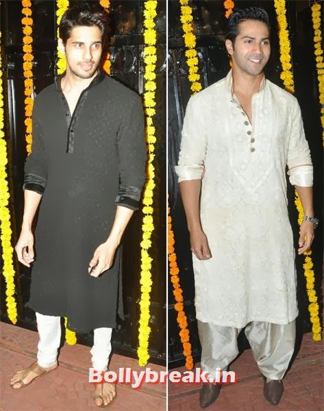 Siddharth Malhotra and Varun Dhawan, Ekta Kapoor's Diwali bash 2013