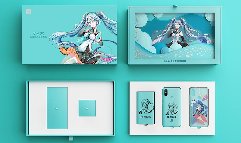 What you'll be getting inside if you purchase the Mi 6X Hatsune Miku Edition