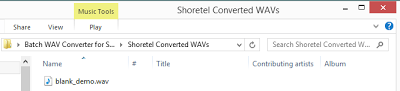 Shoretel Batch WAV Converter v2 Released 6
