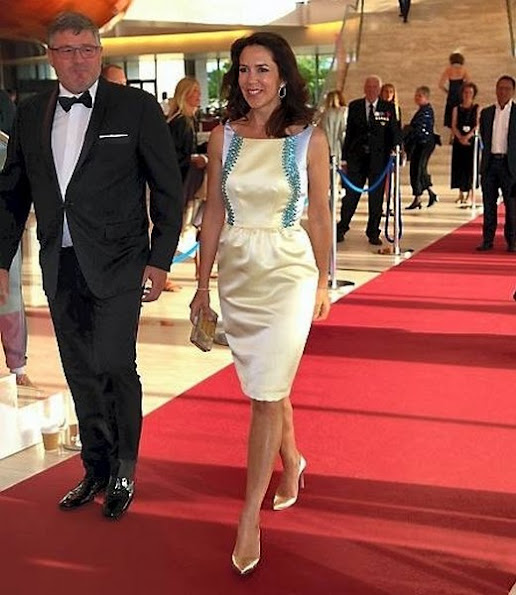 Crown Princess Mary attends the Reumert Award 2016 ceremony. Princess Mary wore Manolo Blahnik Shoes