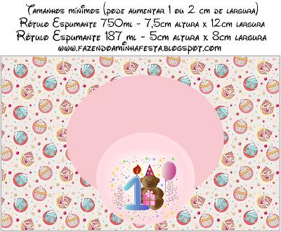 Etiquetas de Minnie Princesa para botellas de champagne o cava.