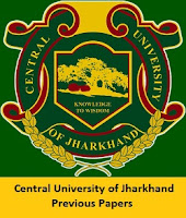 Central University of Jharkhand Previous Papers