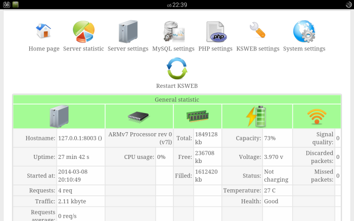 KSWEB :Make Your Android Mobile as Web Server and Host a Full Website On It