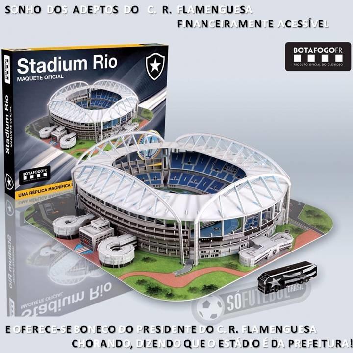 88486e63fe Estádio para o C. R. Flamenguesa com brinde de Bandeira chorando ...