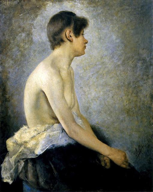 Anton Azbe - Nudo femminile a metà