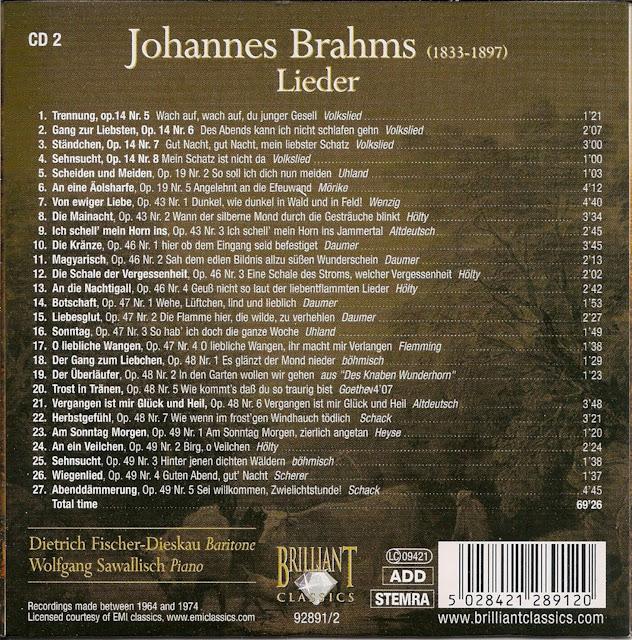 Attractive CD 2 Track 8: Die Mainacht, Op. 43 Nr 2   Wann Der Silberne Mond Durch Dei  Gesträuche Blinkt Hölty