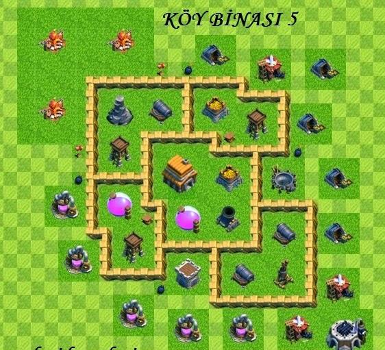 koy binasi 5 Clash of Clans 5 seviye köy binası savunma Hileleri