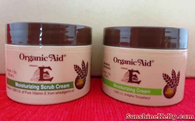 Organic Aid Skincare Review, Organic Aid Skincare, Organic Aid, Organic Aid Moisturizing Scrub Cream, Organic Aid Vitamin E Moisturizing Cream, organic skincare review, organic skincare, organic product, skincare, beauty