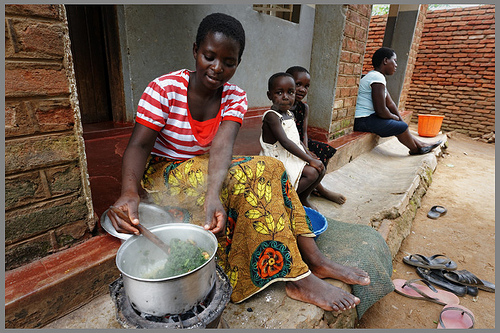 Cooking greens in West Africa