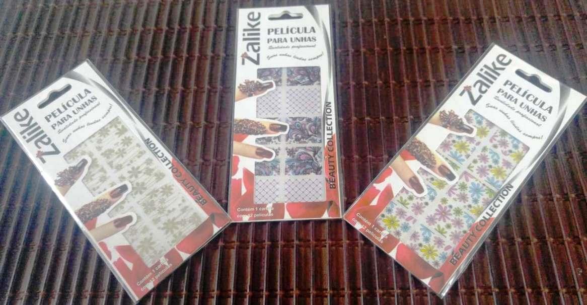 Recebidos da Zalike, películas de unhas e tatuagens temporárias de pele!