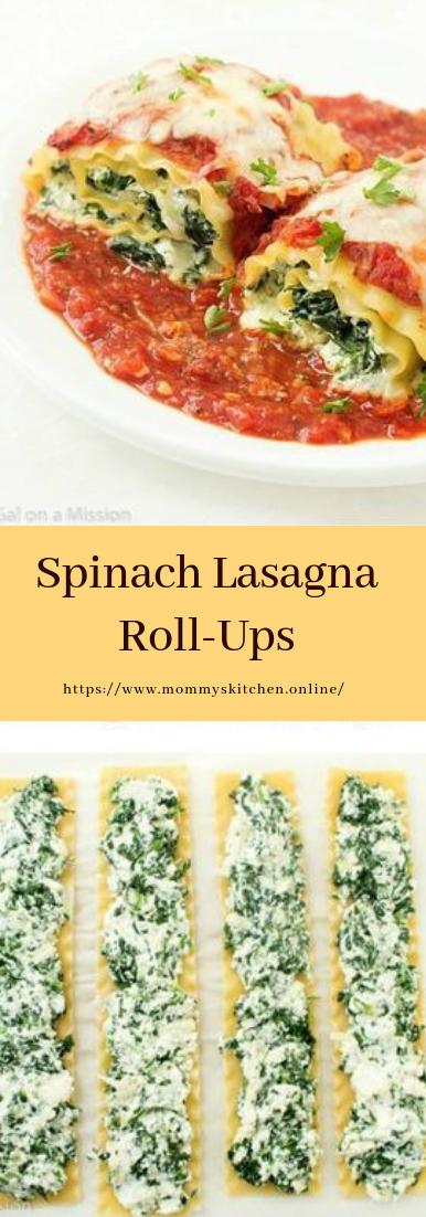 Spinach Lasagna Roll-Ups #dinnerrecipe #food