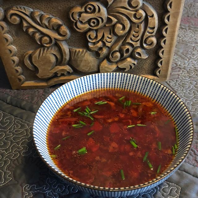 mushroom-based soup