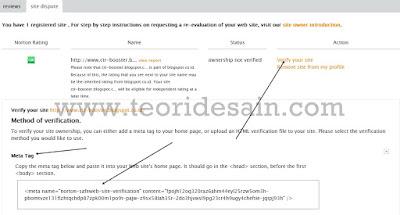 Cara Mendaftarkan Blog di Norton Safe Web 4