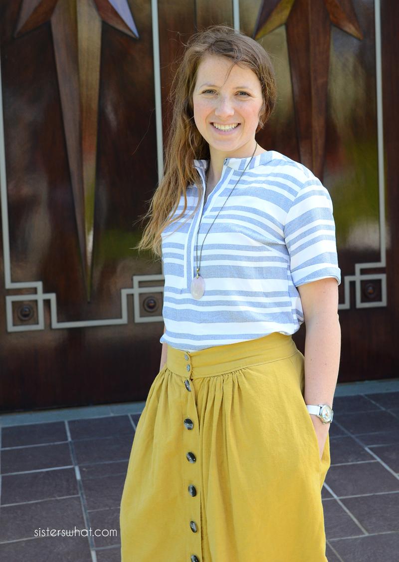 ladies striped shirt mccalls 7360 pattern