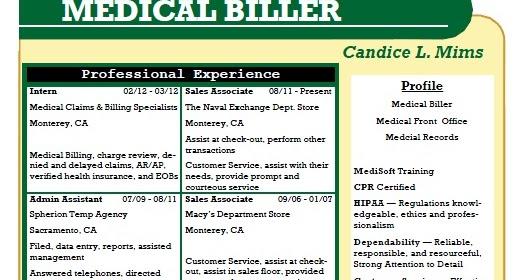 insurance biller resume biller sample resume sample medical insurance biller resume sample