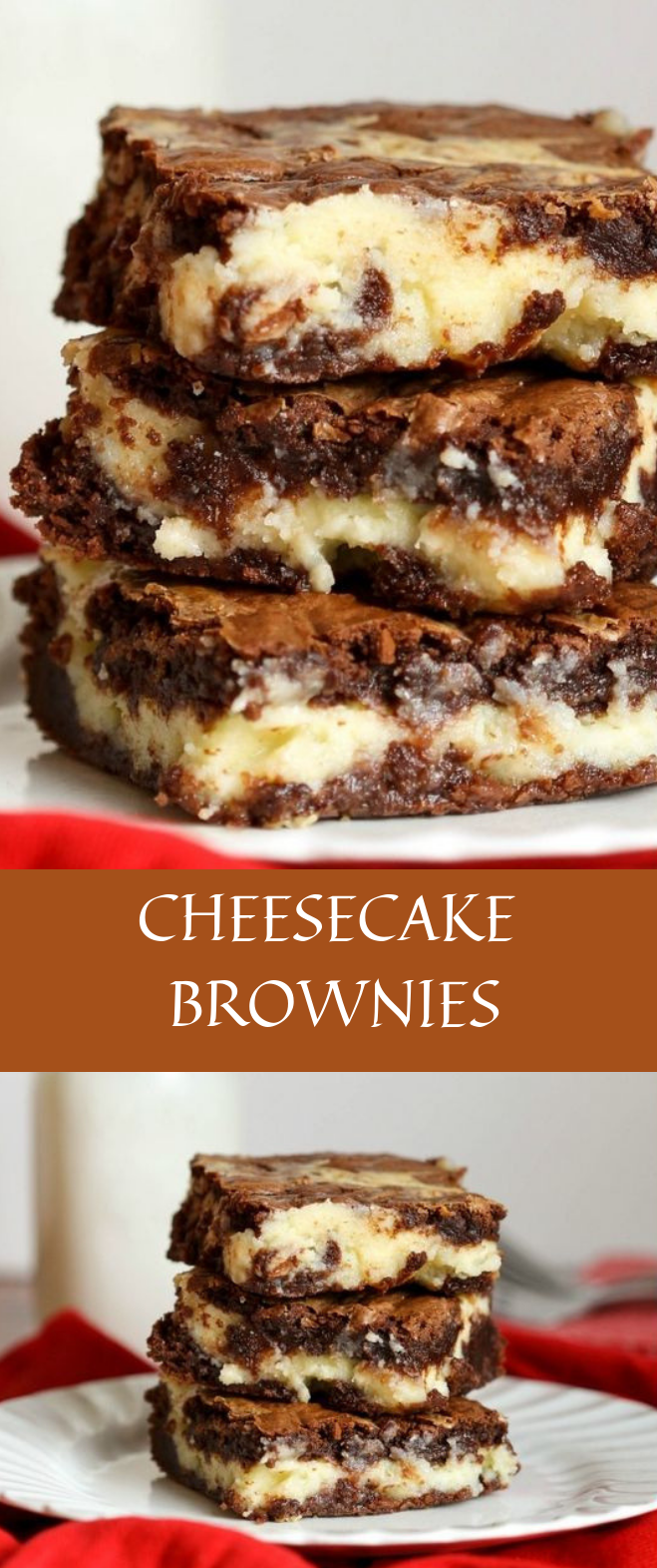 CHEESECAKE BROWNIES #cake #brownies