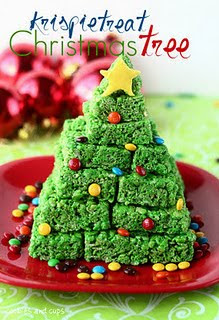 Ricke Krispie Treat Tree