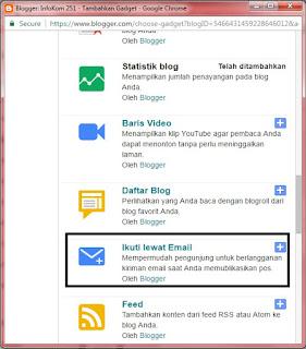 Cara Cepat Membuat Widget Subscribe atau Langganan Pada Blog