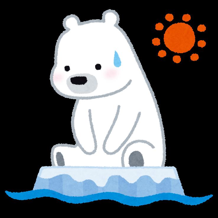 流氷に取り残されたシロクマのイラスト かわいいフリー素材集 いらすとや