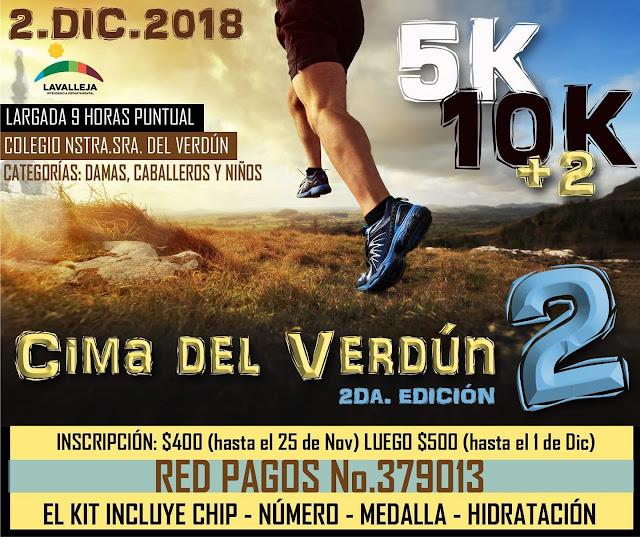 10k 5k + 2k Cima del Verdún en Minas (Lavalleja, 02/dic/2018)