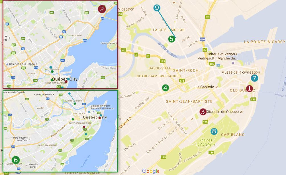 Quebec city walking map pdf on