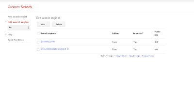 How to create google site search to your website