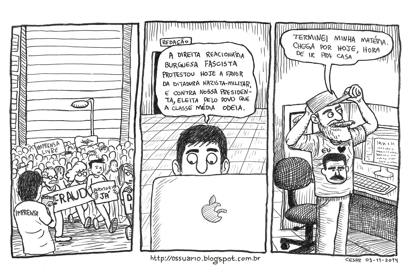 Cesar Andrade cartunista - tira