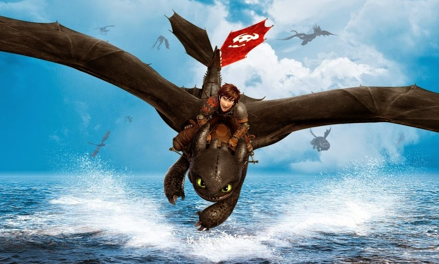 Hiccup şi Toothless în How To Train Your Dragon 2