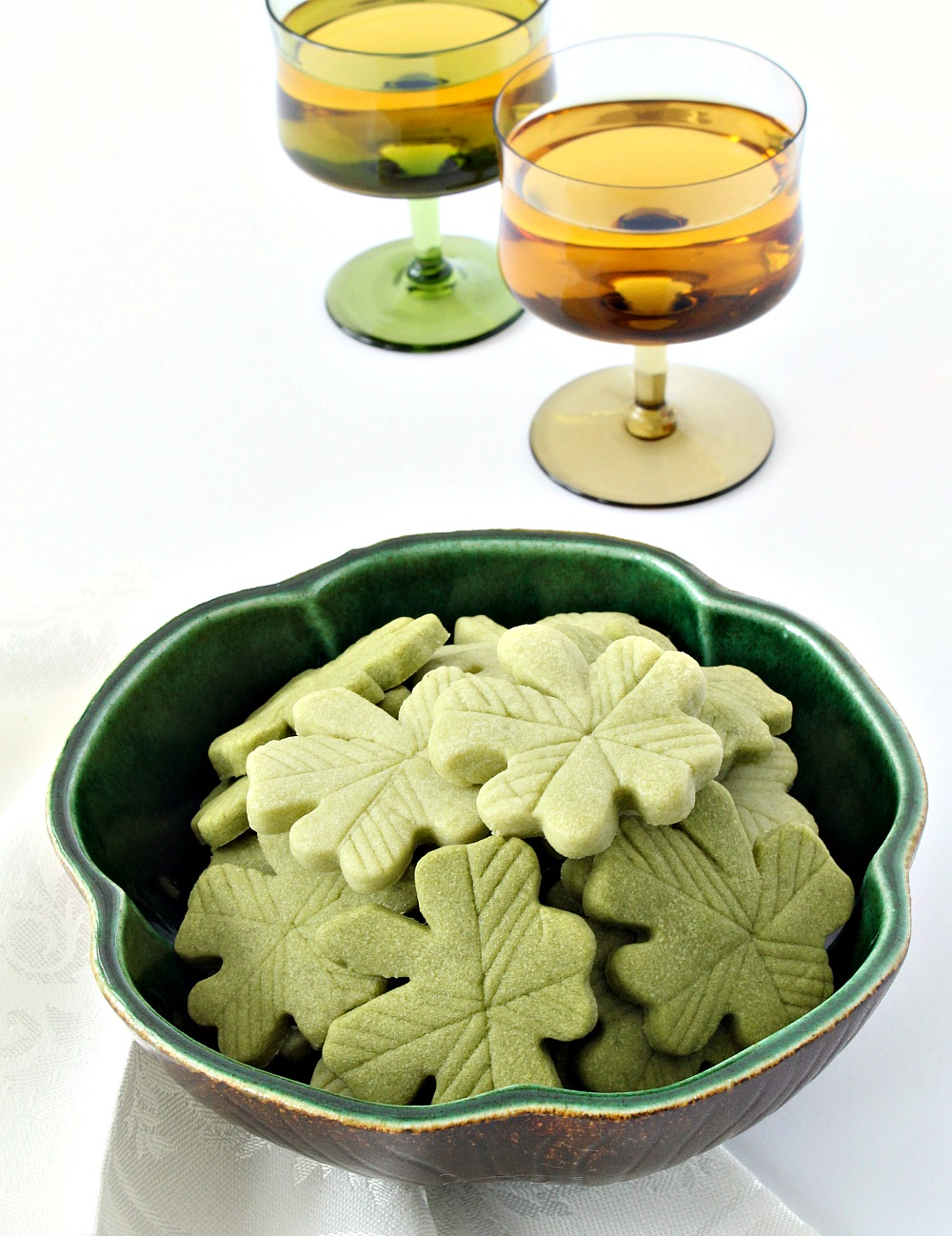Naturally Green Holiday Cake Recioe | Matcha Madeleine Cookies