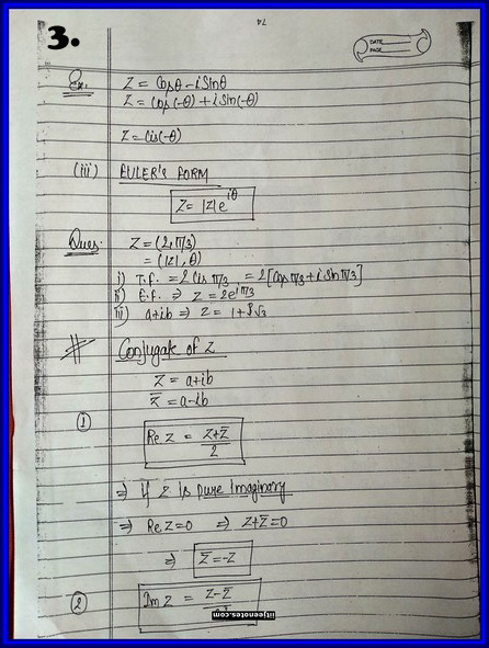 iitjee notes on complex number 3