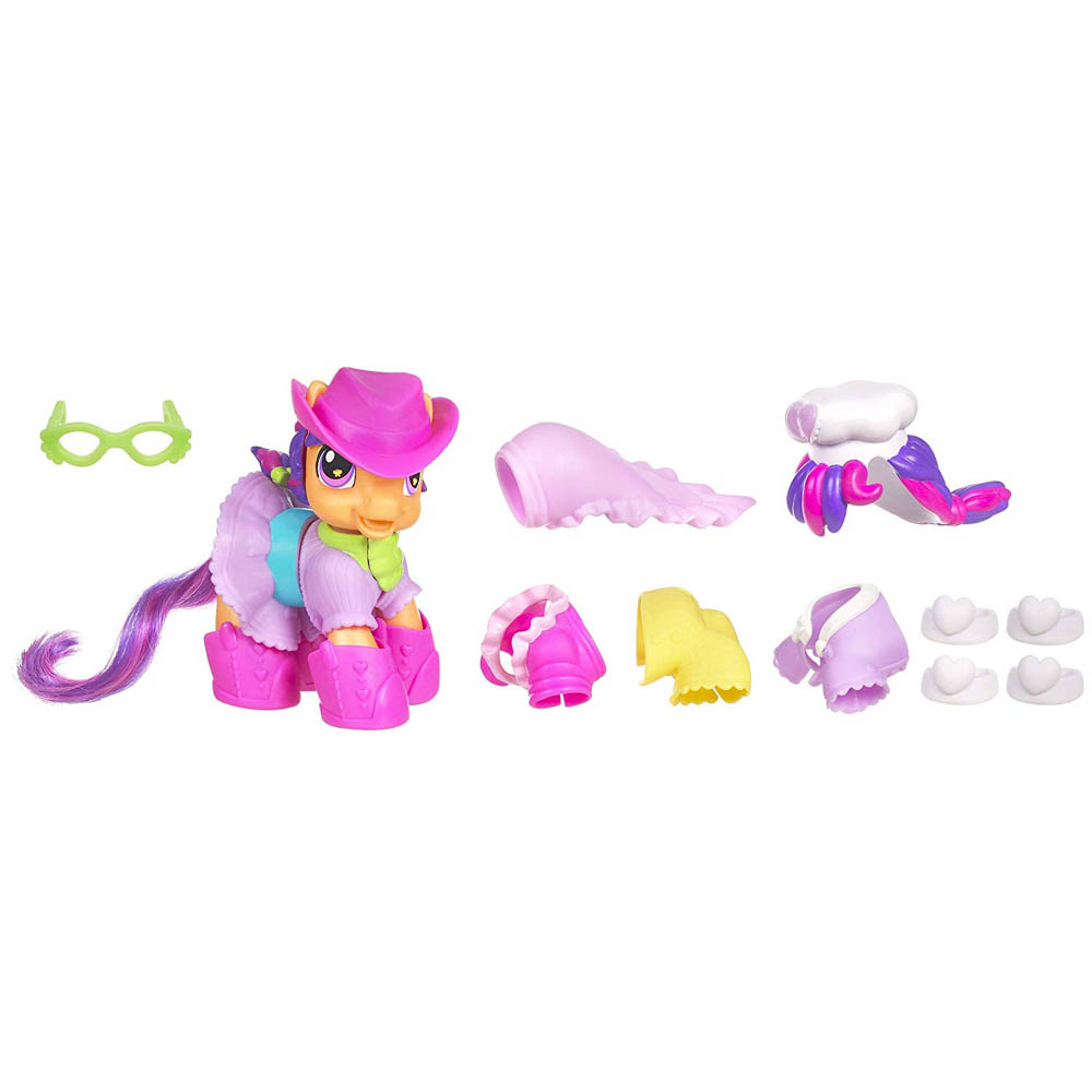 My Little Pony Scootaloo Playsets Scootaloo S Dress Up G3 5 Pony Mlp Merch Download files and build them with your 3d printer, laser cutter, or cnc. my little pony scootaloo playsets