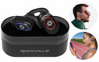 Rockville iRock TWS True Wireless Bluetooth PowerbankarBuds Headphones