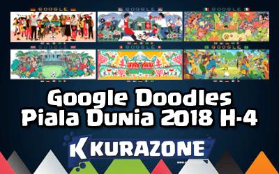 Google Doodles - Piala Dunia 2018 H-4