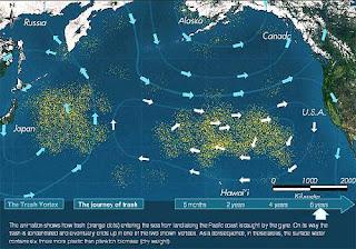 Mapa de situación del plástico en el Pacífico