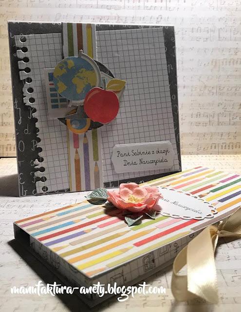 czekoladownik i kartka dla nauczycielki